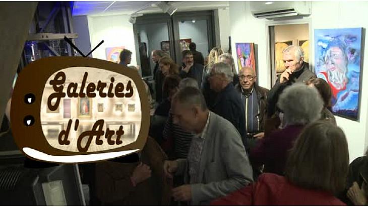 L'artiste Peintre Mireille Cangardel à la Galerie21 de Balma au micro de Michel Lecomte de TvLocale.fr @galerie21_balma @VilleBalma